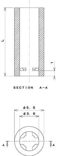 PSP3シリーズ 寸法図 M3用スペーサー M3spacer スペーサー