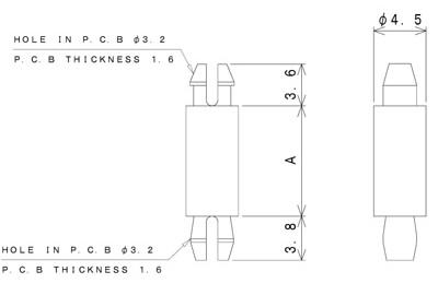 TSDAシリーズ 寸法図 ワンタッチスペーサー one-touch-spacer