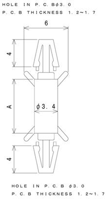 TSDCシリーズ 寸法図 ワンタッチスペーサー one-touch-spacer