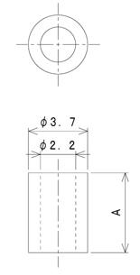 TSP2シリーズ 寸法図 M2用スペーサー M2spacer スペーサー
