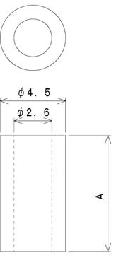 TSP26シリーズ 寸法図 M2.5用スペーサー M2.6用スペーサー M2.5spacer M2.6spacer スペーサー